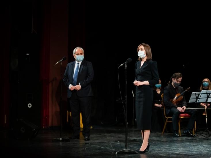 """100 de ani de la înființarea Teatrului Național """"Mihai Eminescu"""" – sub egida Președinției Republicii Moldova"""